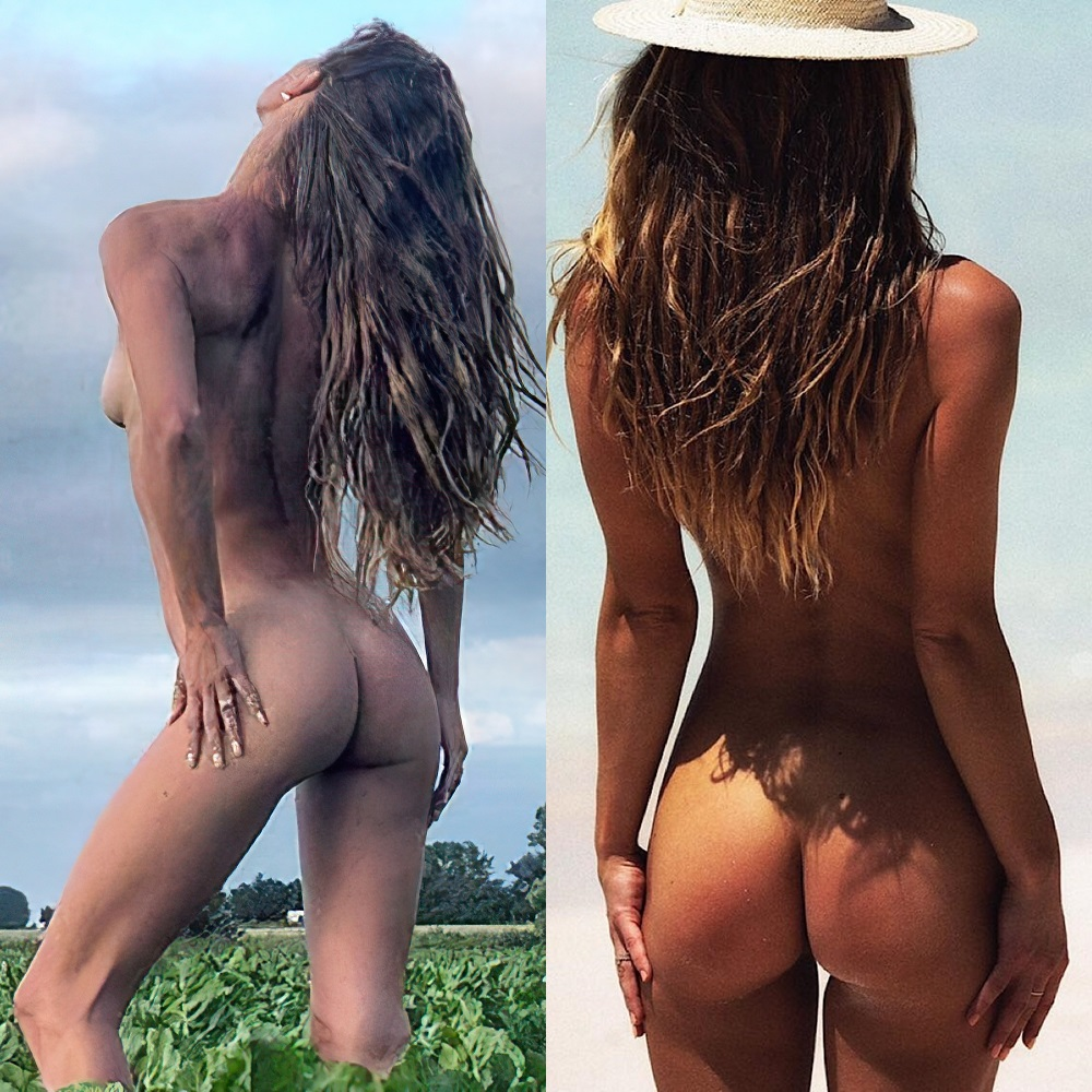 celeb Nina Agdal nude ass collection