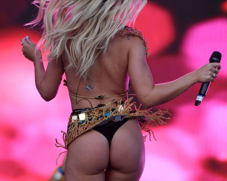 Two blondes Louisa Johnson & Becky Hill showing off booty at Manchester Pride 25