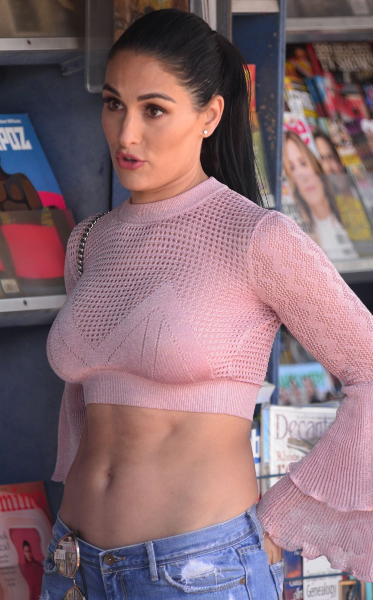 WWE diva Nikki Bella looking sexy as hell in public
